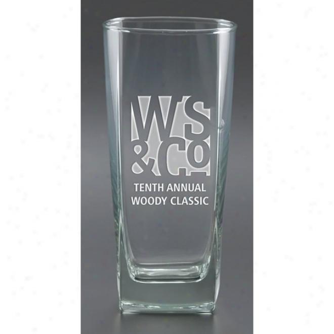 16 Oz Deep Etch Sterling Beverage Glass