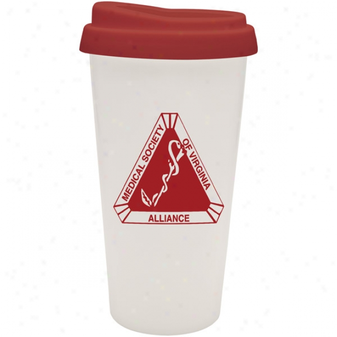 16 Oz Double Wall E.ssential Cup W/red Lid