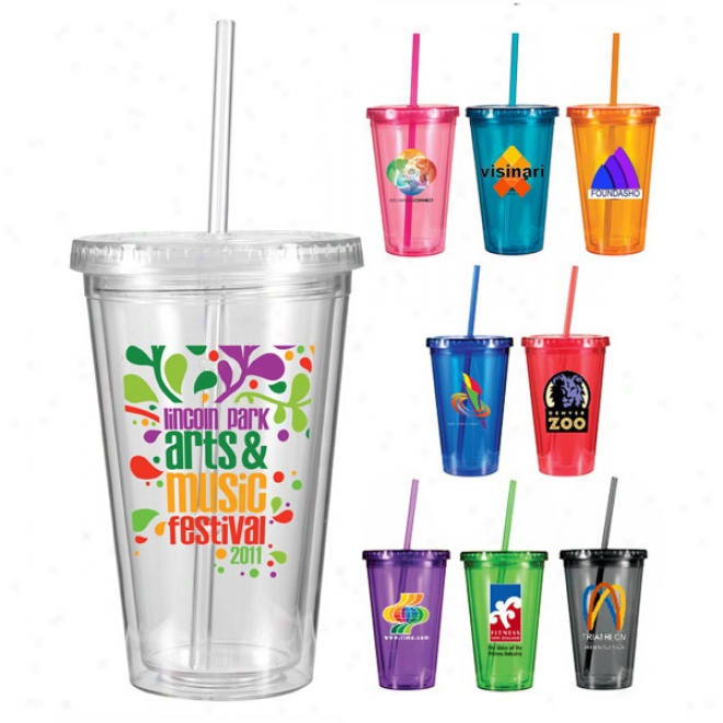 16 Oz. Conquest Acrylic Tumbler, Full Color Digital