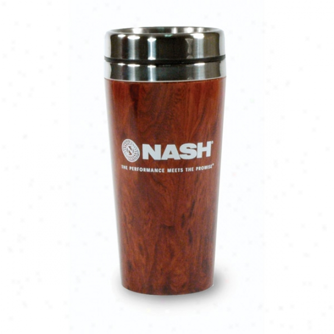 16 Oz. Woodgrain Tumber With Stainless Liner
