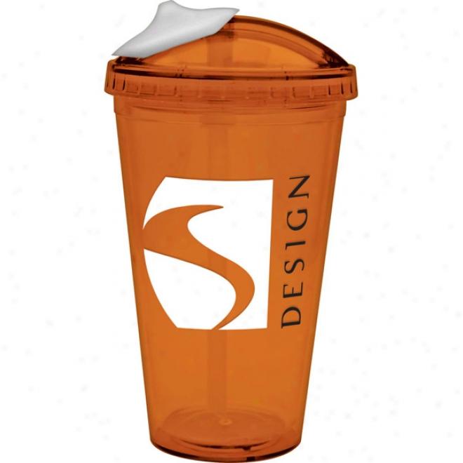 18 Oz. Orange Slider Lid Carnival Cup