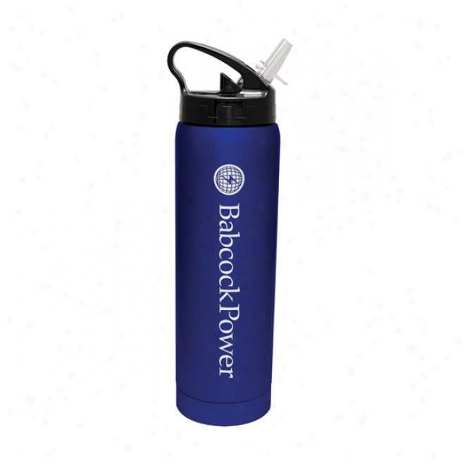 19 Oz Blue Double Walled Stainless Steel Bottle