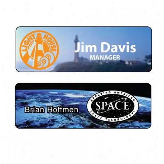 "1"" X 3"" Full-color Sublimation Name Badge"