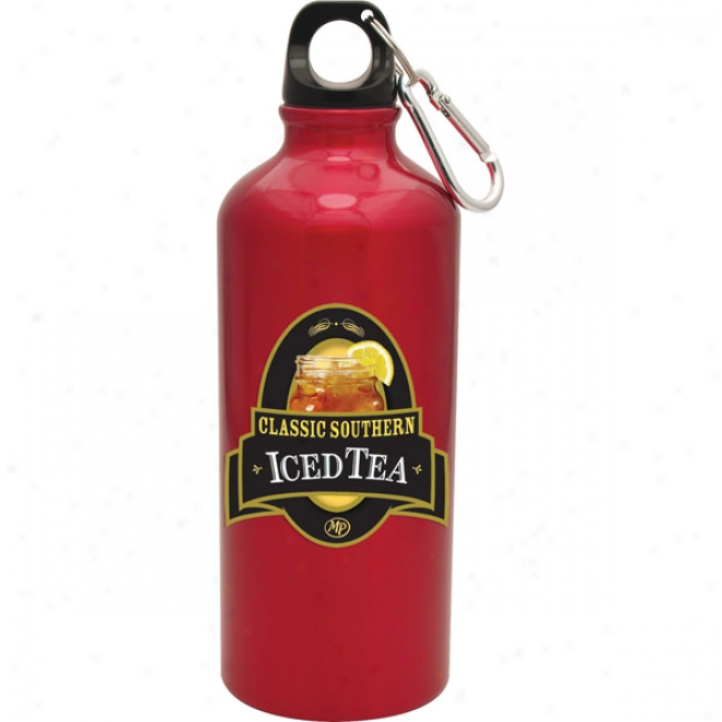 20 Oz Red Venice Bottle W/ Digital 4 Color Process