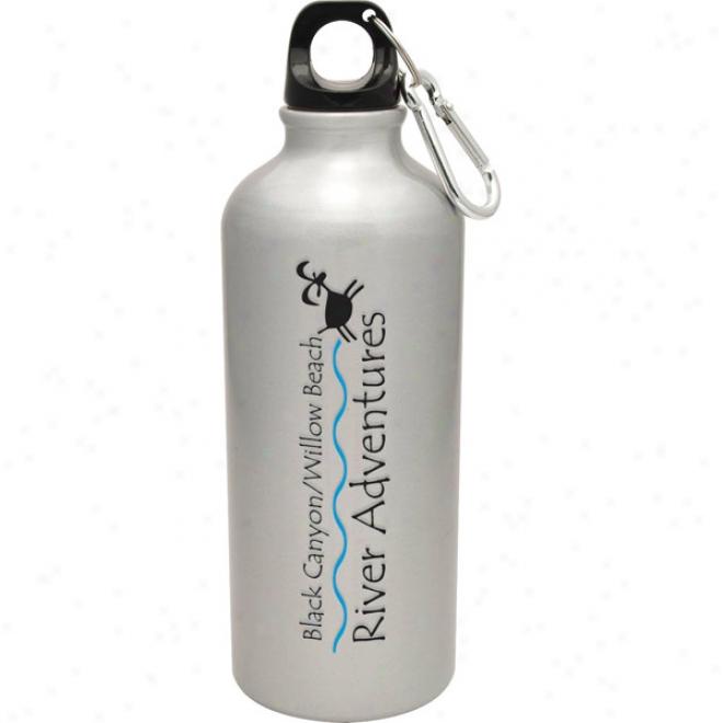 20 Oz Silver Aluminum Venice Bottle
