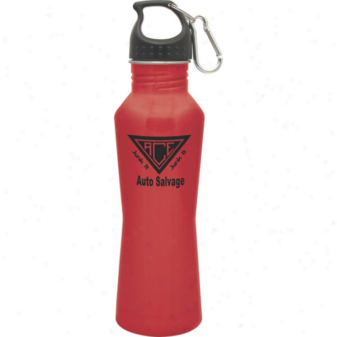 25 Oz. Bayside Red Stainless Steel Bottle