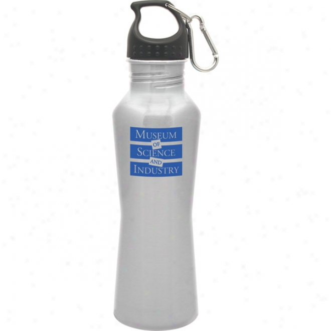 25 Oz. Bayside Silver Stainless Steel Bottle