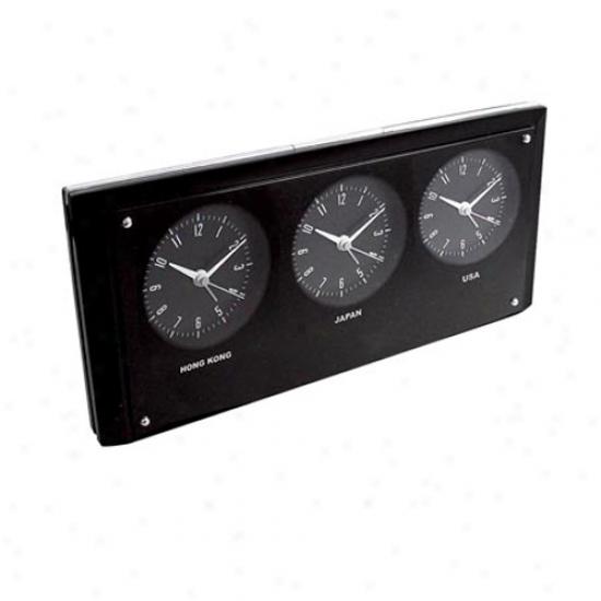 3 Time Zone Alarm Clod