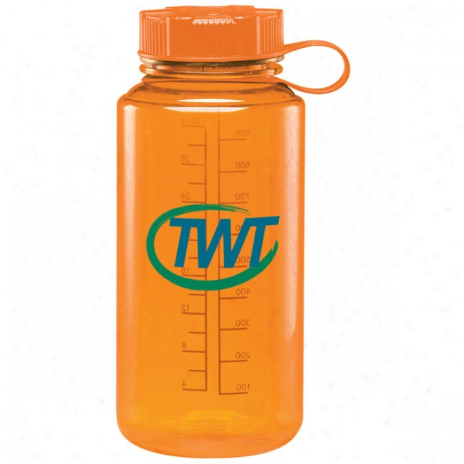 32 Oz Bpa Free Orange Baltic Cylinder Water Bottle