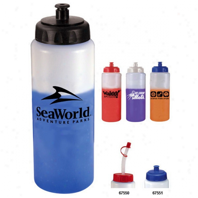 32 Oz. Mood Sports Bottle With Push 'n Pull Cap - Bpz - Free