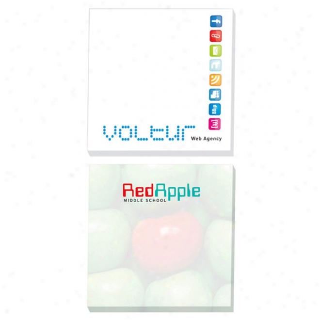 """3"""" X 3"""" Adhesive Notepads 100 Sheet Pad"""