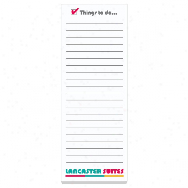 "3"" X 8"" Adhesive Notepads  50 Sheet Pad"