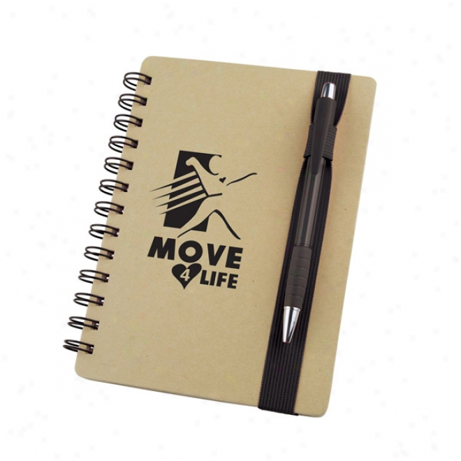 """5"""" X 7"""" Color Band Recycled Notebook"""