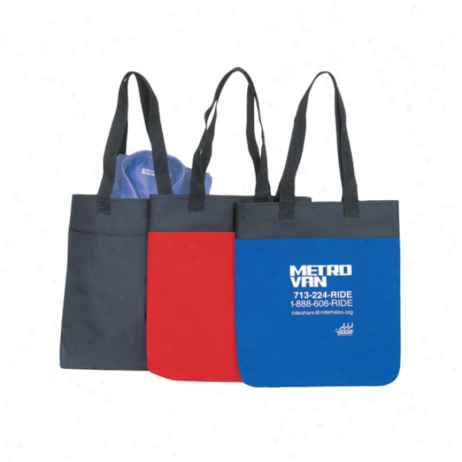 600d Polyester 2 Tone Tote Bag