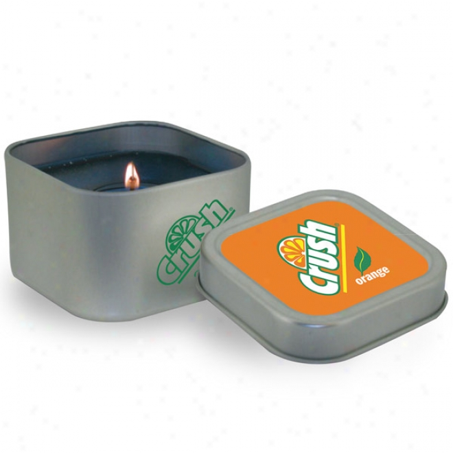 8 Oz. Sqaure Shaped Tin Candle
