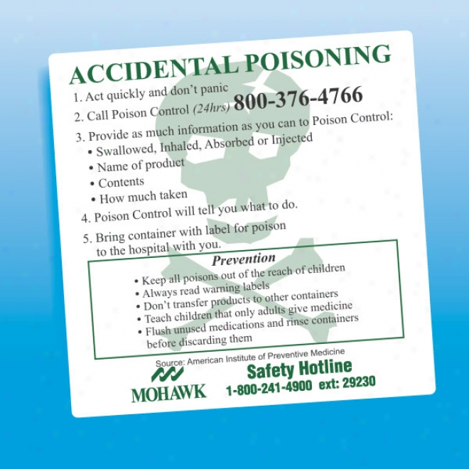 Accidential Poisoning - Health And Safety Magnet