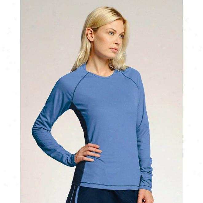 Alo Ladies' Long Sleeve Colorblock T-shirt