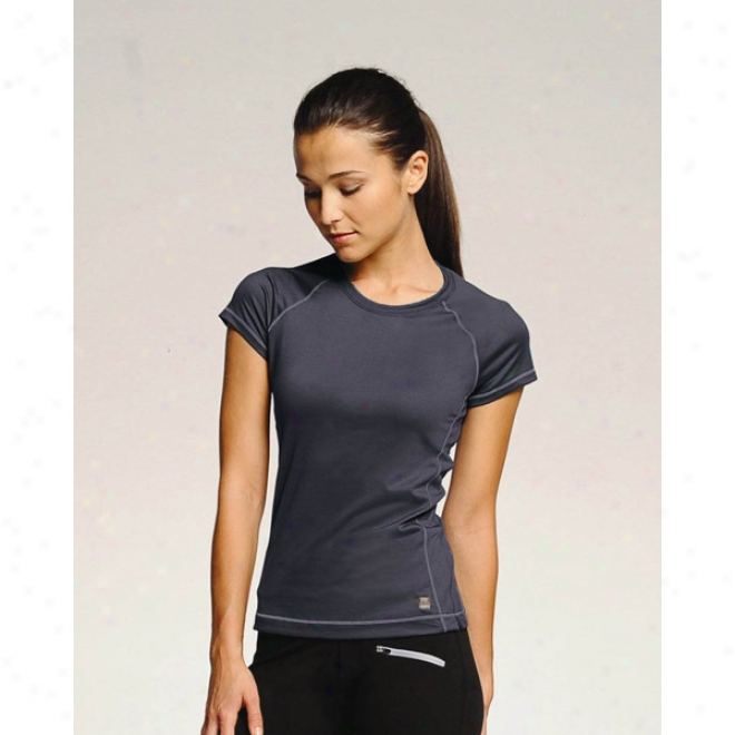 Alo Ladies' T-shirt With Contrast Color Stitching
