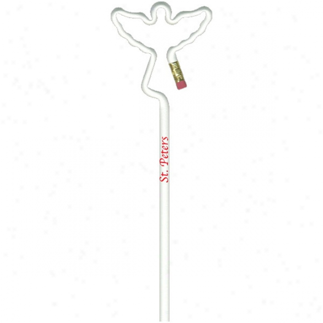 Angel - Real Number 2 Lead Pencil With An Erader, Excel Is Bent Into A Basic Shape