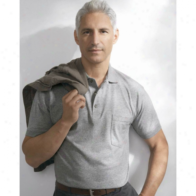 Anvil Stain Repel & Release Sport Shirt With A Pocket