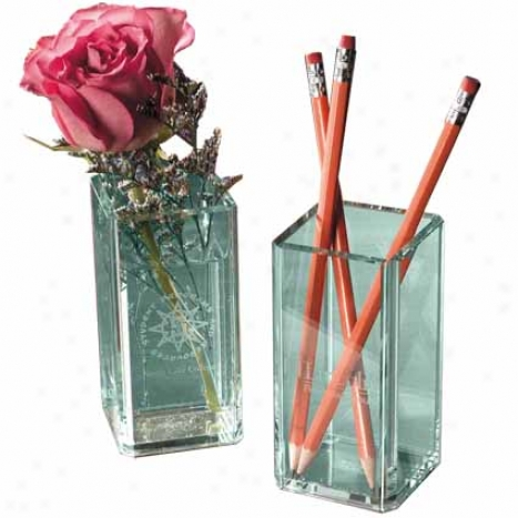 Atrium Glass Pencil Holder Flower Vase
