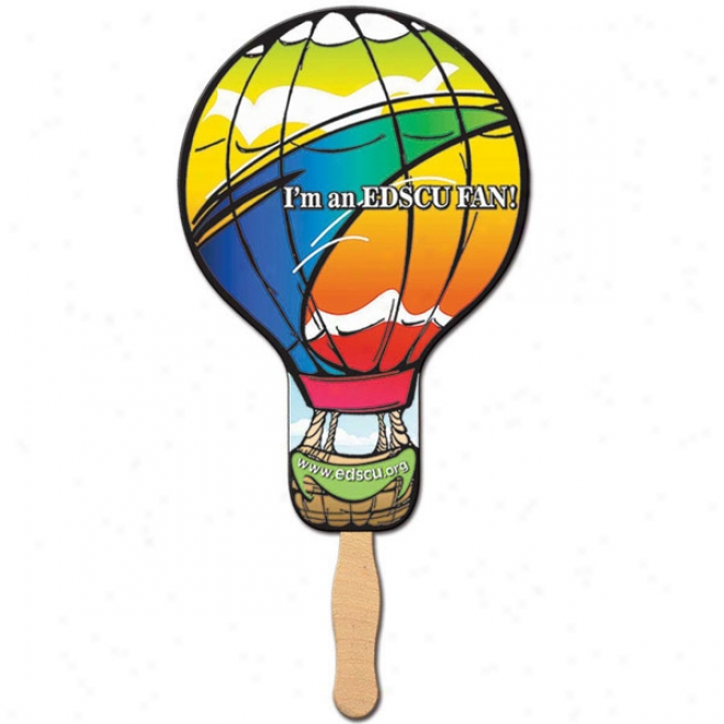 Balloon - Stock Shape Fan, Material Used Is Heavy 22 Pt. High Density Whte Poster Board