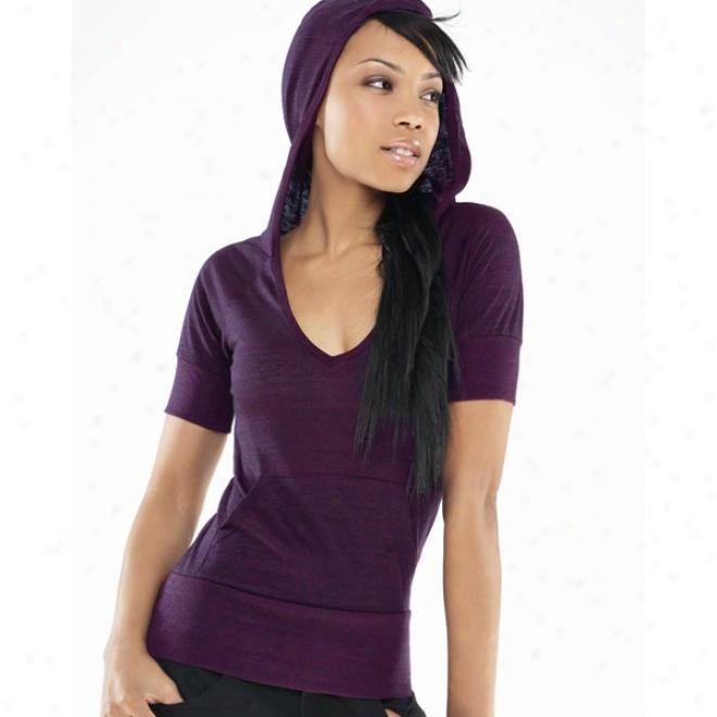 Bella Ladies' Jodie Tri-blend  1/2  Sleeve Hoodie