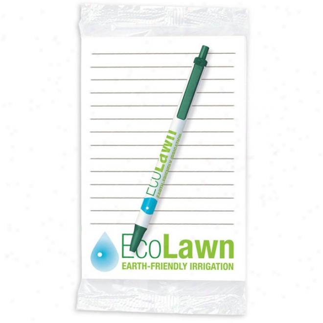 "Bic Ecolutions Clic Stic + Notepad 4"" X 6"" - 25 Sheet Notepad"