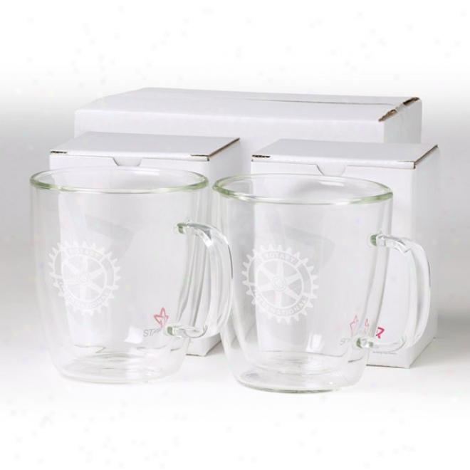 Binara 13 Oz 2 Pc Glass Mug Talent Set