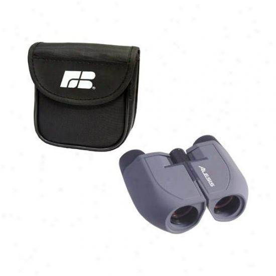 Binoculars With Ruby Coated Prism Optics, Center Wheel Focusing And Nylon Case