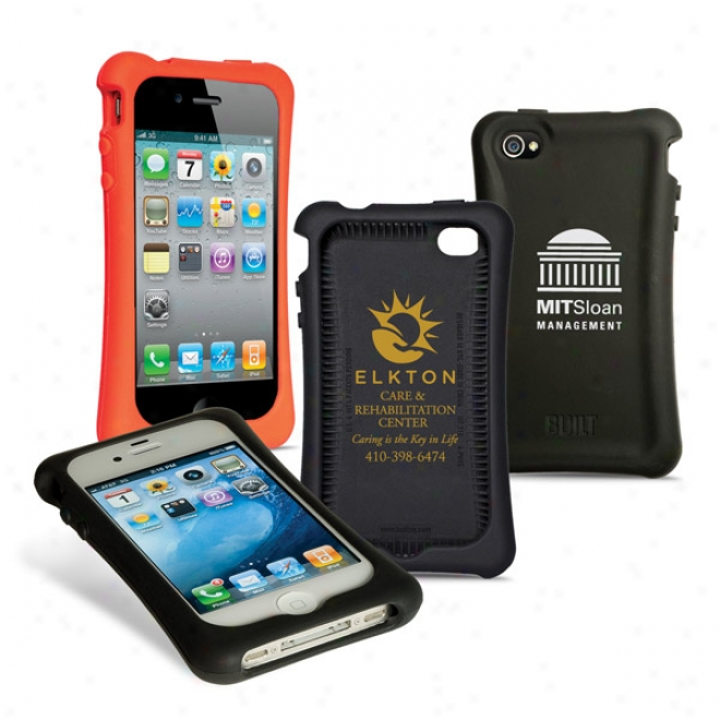 Built Silicone Plastic Case For Iphone 4