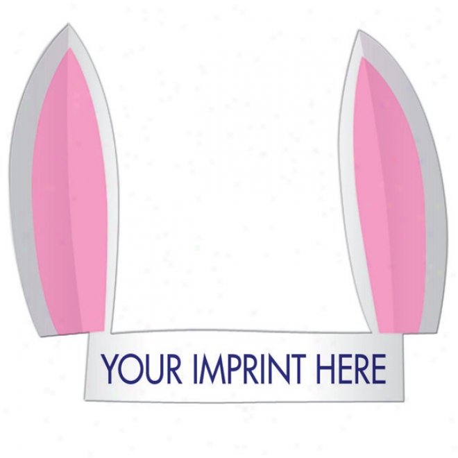 Bunny Ears - Animal Hat Madde From 14 Pt High Density White Poster Board