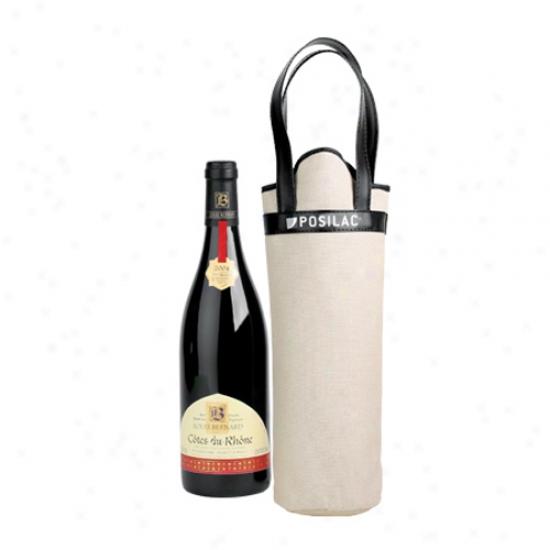 Canvas Bottle Tote Bag