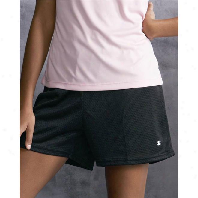 Champion - Ladies' Tagless Active Mesh Shorts