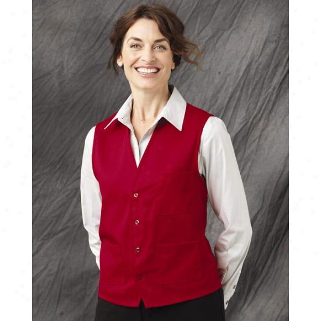 Chef Designs V-neck Button Front Vesture
