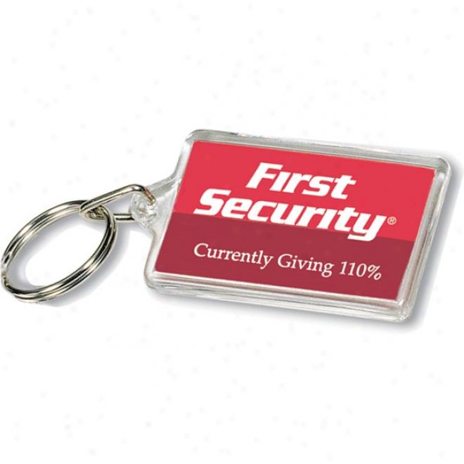 Clear Acrylic Rectangle Key Tag