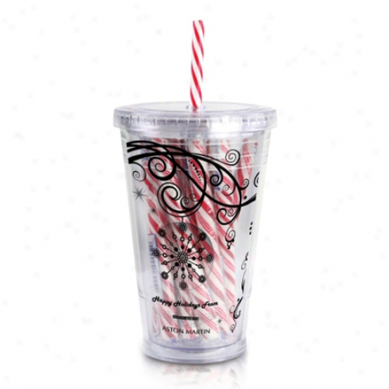 Clear Tumbler With Candy Cane Inside