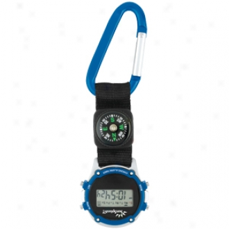 Clip-on - Stopwatch With Compass And Extra Large Carabiner Clip