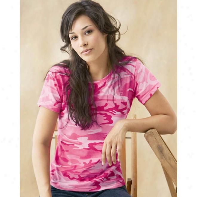 Code V Ladies' Camouflage T-shirt
