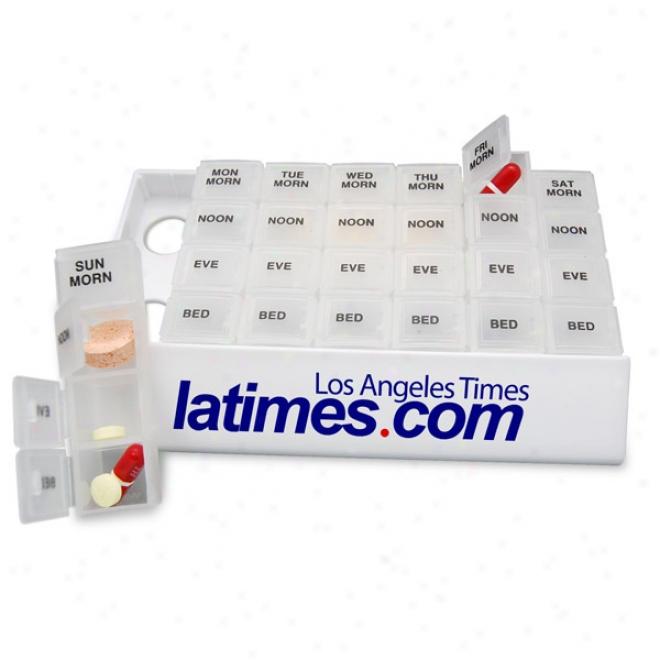 Compact Medicine Tray Organizer