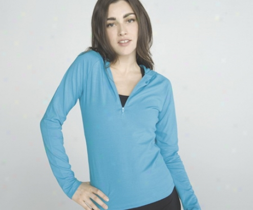Cotton Spandex Haf Zip Hooded Pullover