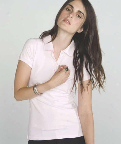Cotton-wool Spandex Mini Pique Polo