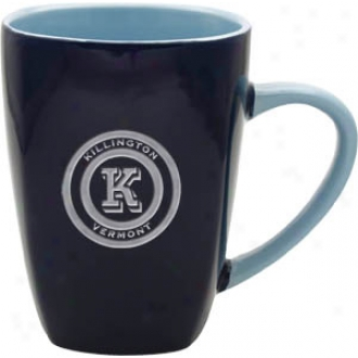 Deep Etched Blue Quadro Mug With Lt. Blue Interior
