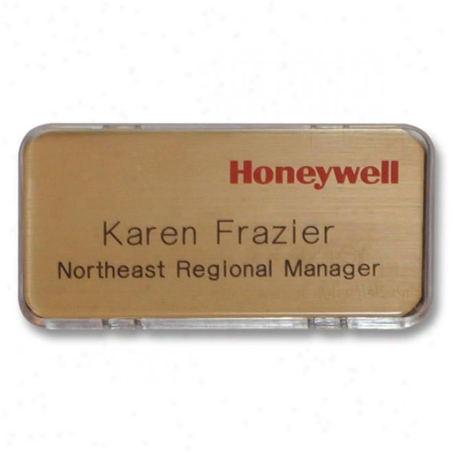 Deluxe Name Badge - Screened & Engraved Snap-it Badges