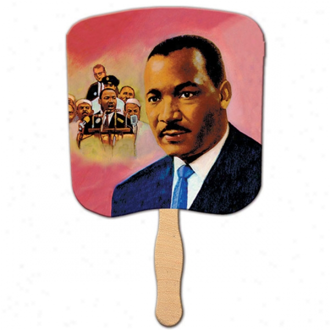 Dr. Martin Luther King Jr. - Stock Rekigious Fan, Material Is A Heavy 22 Pt. High Density White Poster oBard
