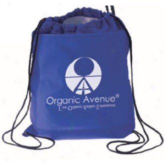 Drawstring Cooler Backpack-blue