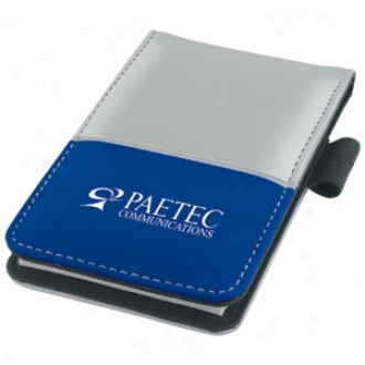 Dual Tone Jotter, Silver Through  Bold Color Accents And A Dual Power Calculator