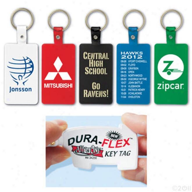 Dura-flex Rectangle Key Tag