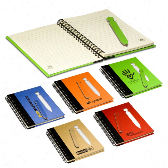 Eco Notebook With Die-cut Pen