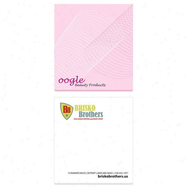 "Ecolutions 2 3/4"" X 3"" Adhesive Notepads  25 Sheet Pad"